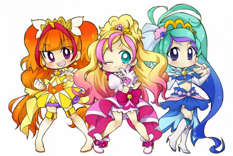 Go! Princess Precure Cure Flora Haruno Haruka Amanogawa Kirara Cure Mermaid wallpaper