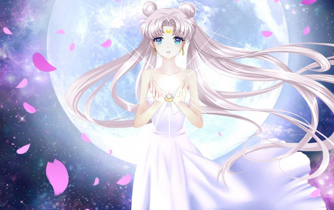 Sailor Moon Hair Moon Dress Anime Girls wallpaper