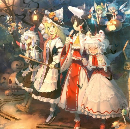 Touhou Mystia Lorelei Remilia Scarlet Daiyousei Kirisame Marisa wallpaper