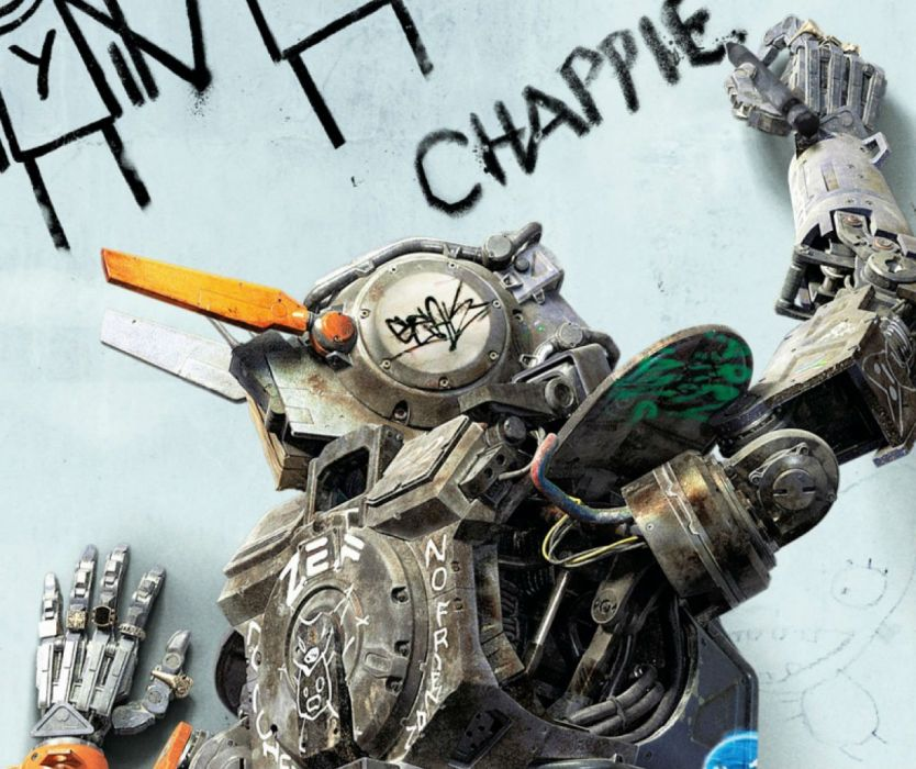 CHAPPIE sci-fi futuristic action thriller robot technics science technology 1chappie wallpaper