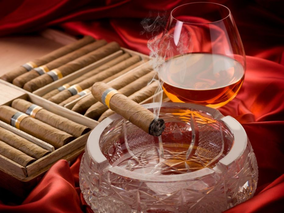 CIGARS cigarette tobacco bokeh smoke smoking cigar drink alcohol drinks glass wallpaper