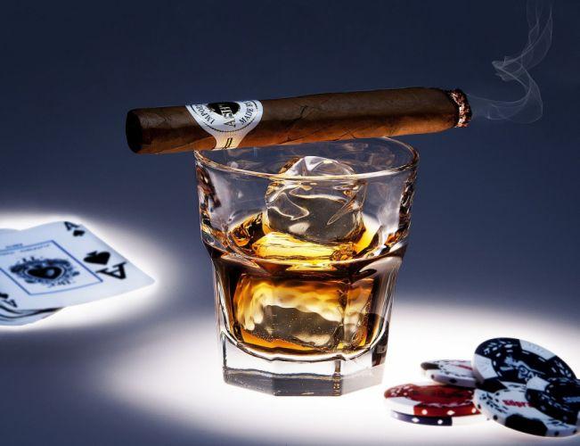 CIGARS cigarette tobacco bokeh smoke smoking cigar drink alcohol drinks glass wallpaper