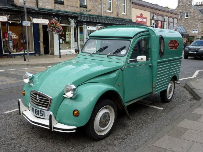 2cv Citroen classic cars french Fourgonnette delivery wallpaper