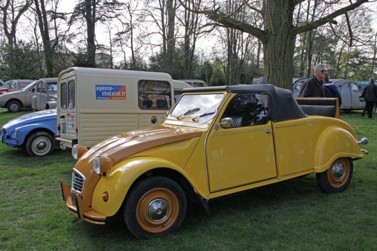 2cv Citroen classic cars french cabriolet convertible wallpaper