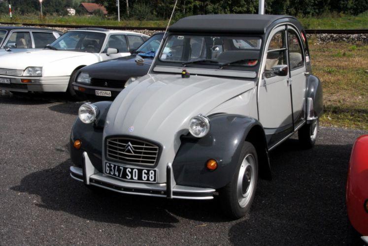 2cv Citroen classic cars french wallpaper