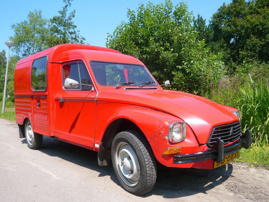 acadiane cars Citroen classic delivery french wallpaper