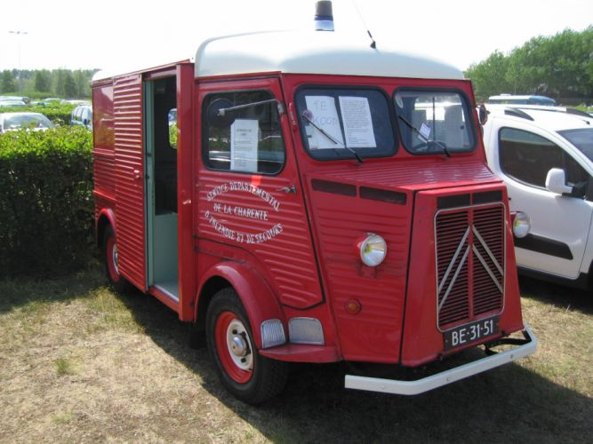 Citroen type-h classic cars french Fourgonnette truck van pompier delivery wallpaper