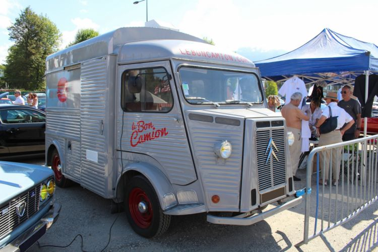 Citroen type-h classic cars french Fourgonnette truck van food delivery wallpaper