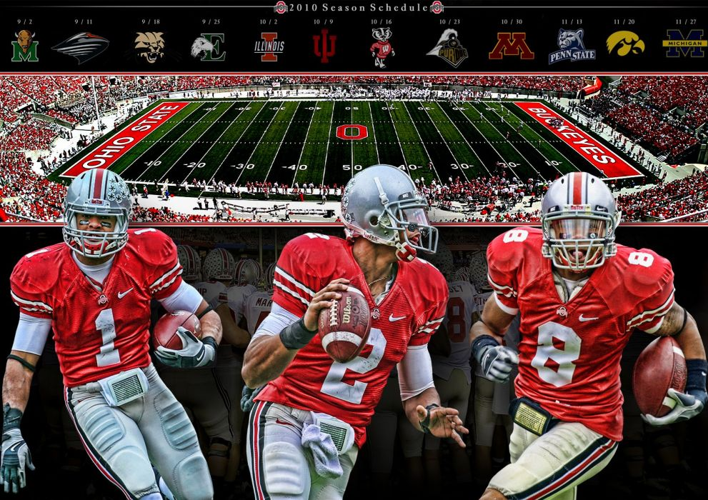 OHIO STATE BUCKEYES college football poster wallpaper