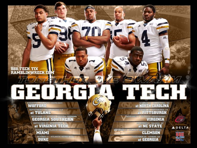 georgia tech yellow jackets college football wallpaper | 3600x2709, Powerpoint templates
