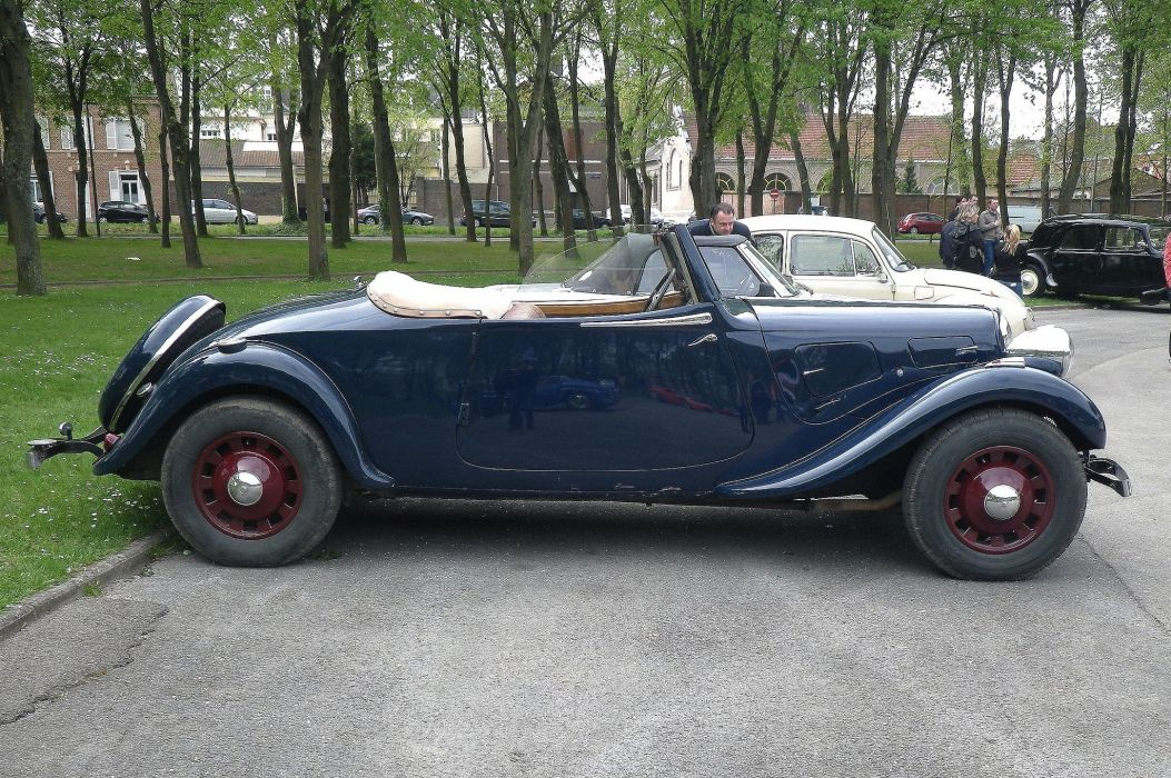 cars Citroen traction avant classic french convertible cabriolet wallpaper