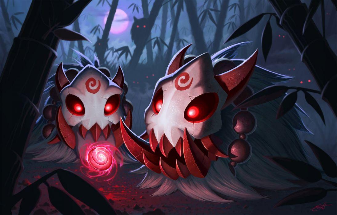 League Of Legends Poro Blood Moon Fan Art Wallpaper