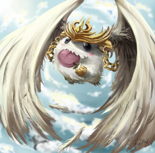 League of Legends Angelic Poro fan art wallpaper