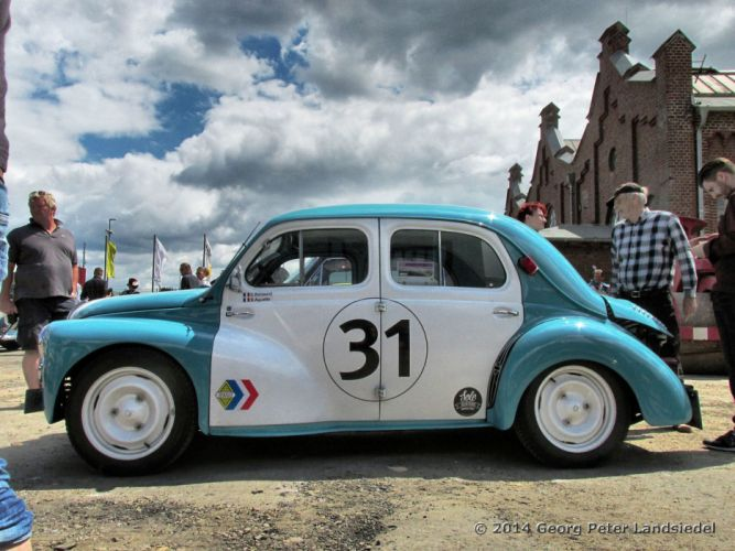 renault 4cv classic cars french racecars wallpaper