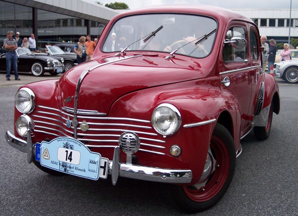 renault 4cv classic cars french wallpaper