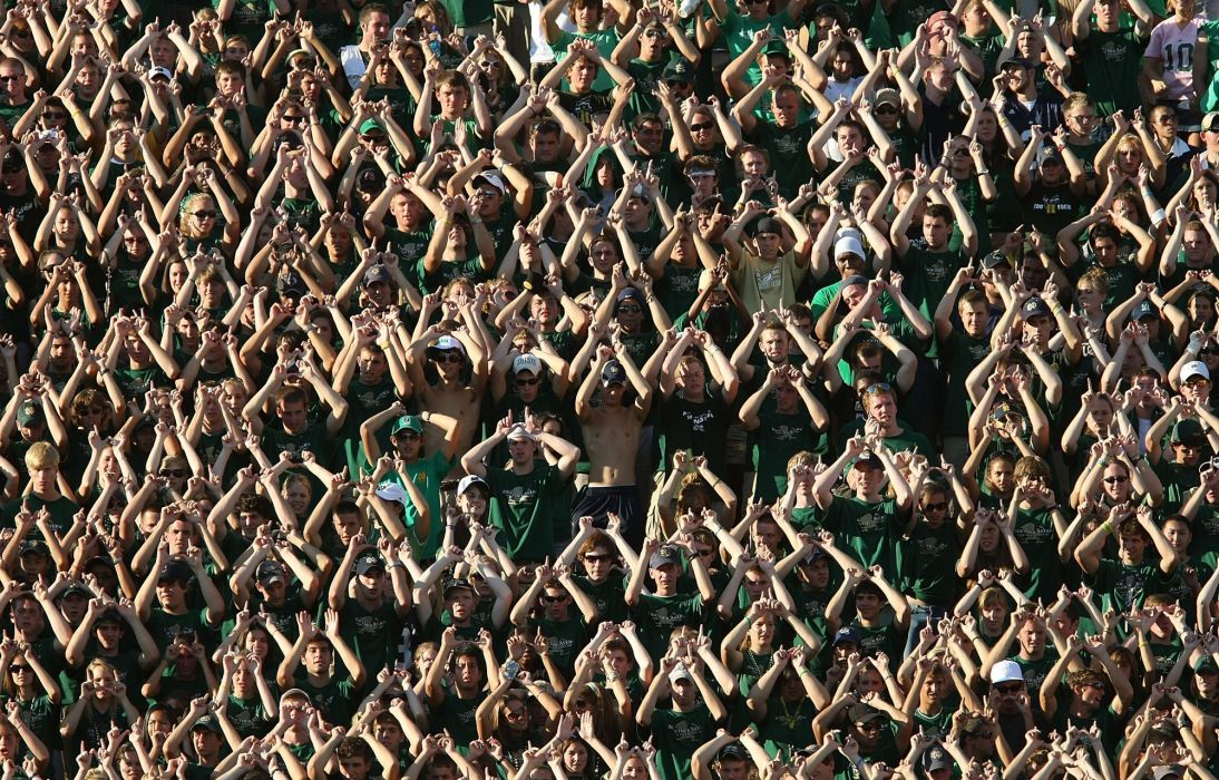 NOTRE DAME Fighting Irish college football crowd people wallpaper