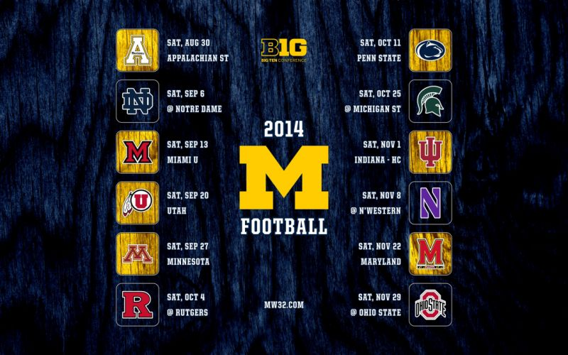 MICHIGAN WOLVERINES college football wallpaper