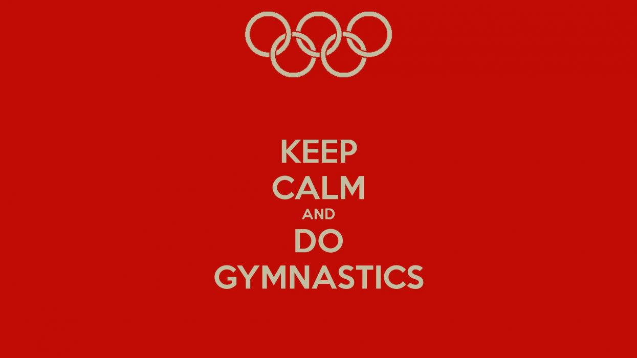 GYMNASTICS Exercise Fitness Sexy Babe Sport Grace Artistic Art Women Woman Female Keep Calm Wallpaper