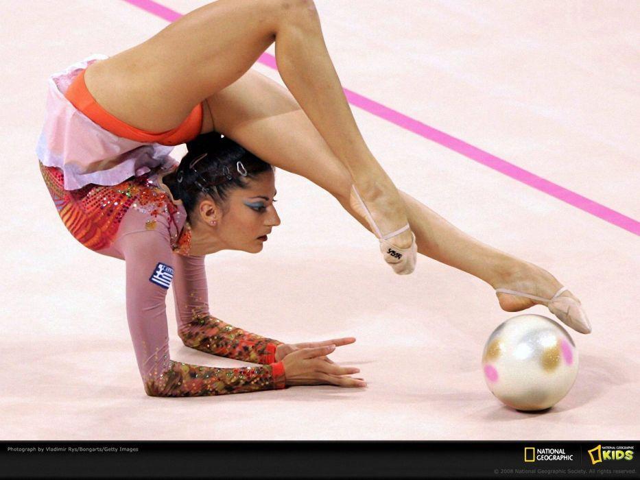 GYMNASTICS exercise fitness sexy babe sport grace artistic art women woman female wallpaper