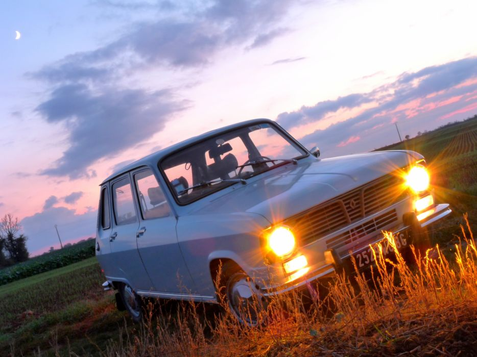 renault renault 6 cars classic french wallpaper