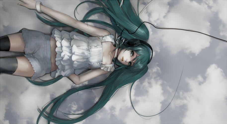vocaloid hatsune miku-fukawa anime series girl long hair wallpaper