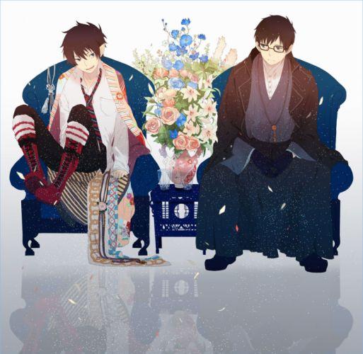 anime series ao+no+exorcist-okumura+rin-guys flower wallpaper