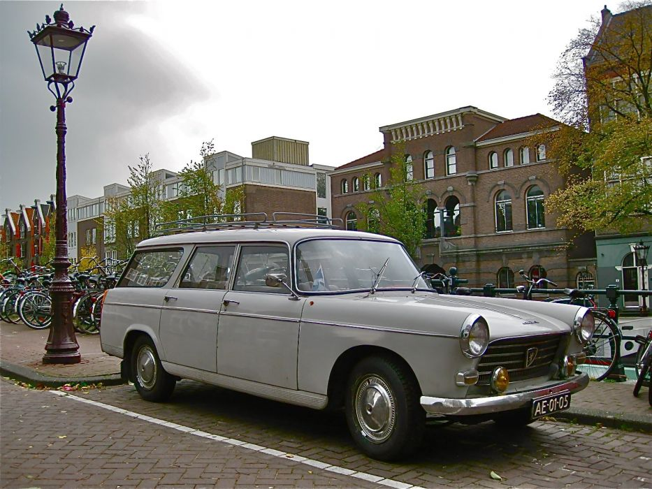 Peugeot 404 classic french cars wagon wallpaper