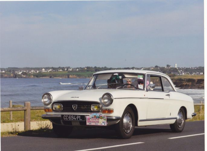 Peugeot 404 classic french cars coupe wallpaper
