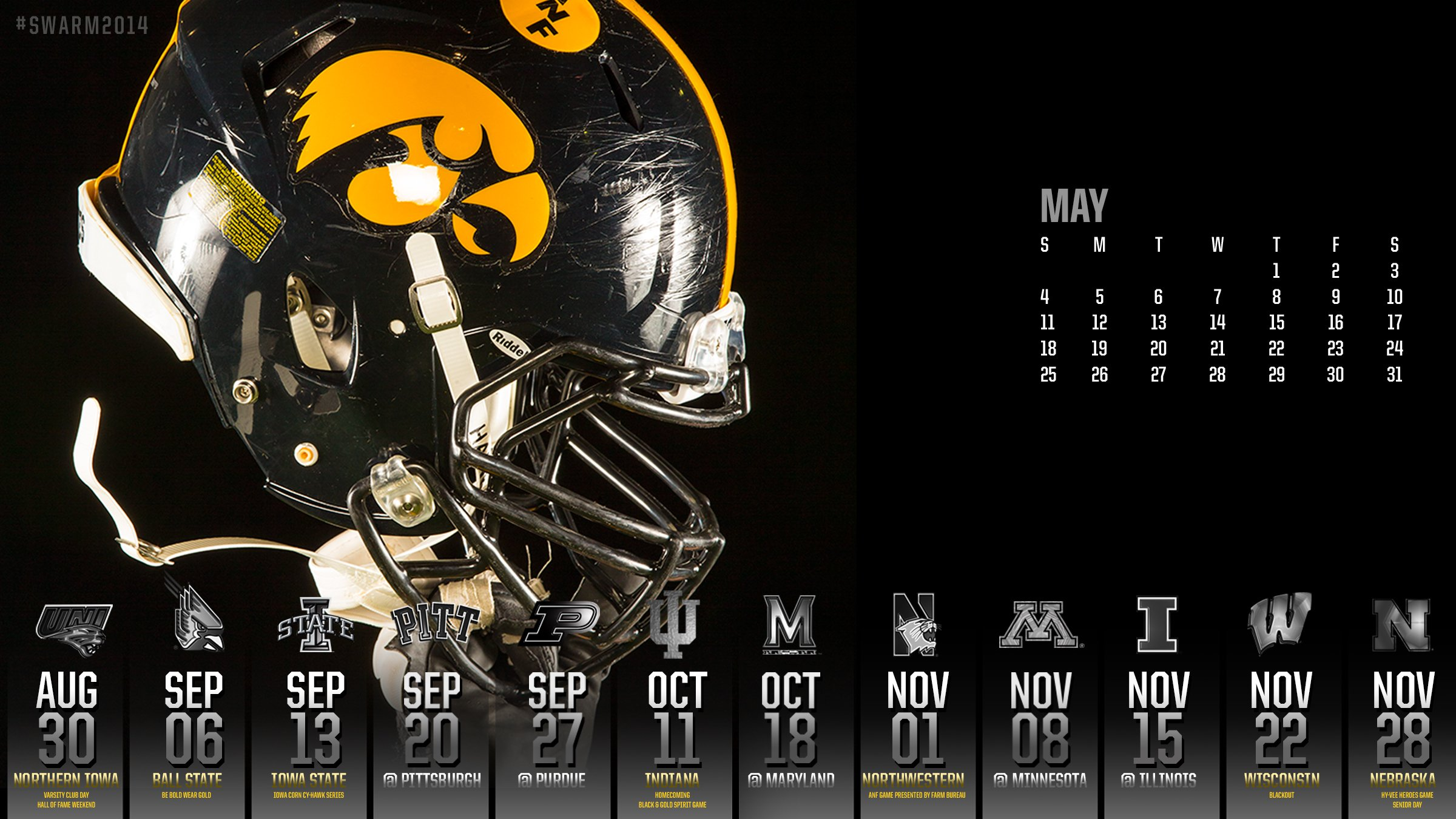 Iowa Hawkeyes College Football Wallpaper 2400x1350