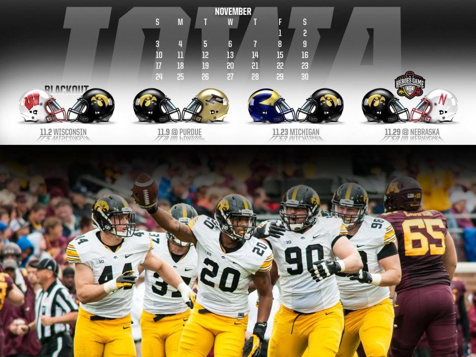 IOWA HAWKEYES college football wallpaper