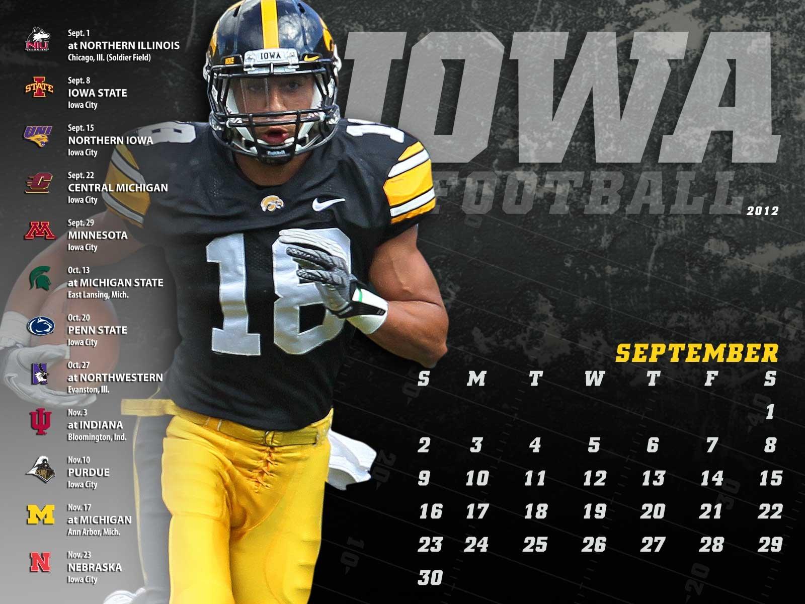 Iowa Hawkeyes College Football Wallpaper 1600x1200 597191