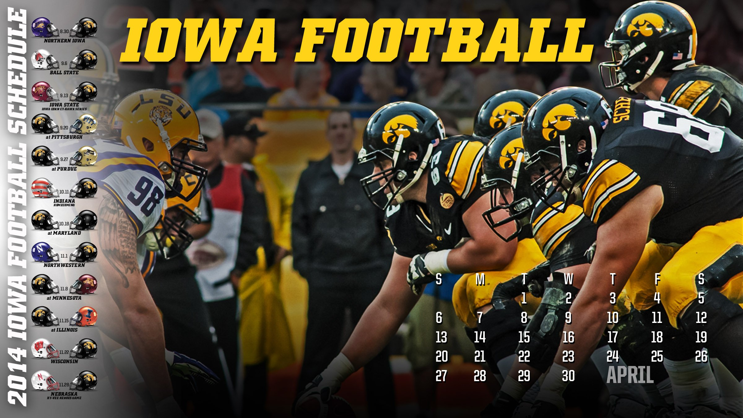 iowa hawkeyes college football wallpaper | 2400x1350 | 597205