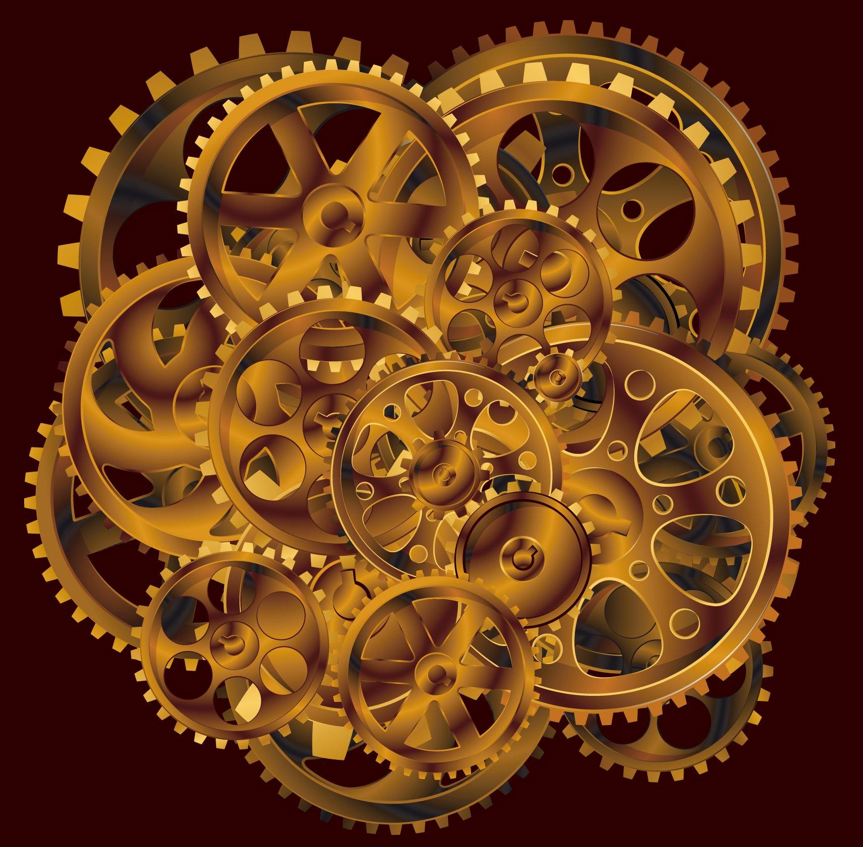 mechanical gears wallpaper