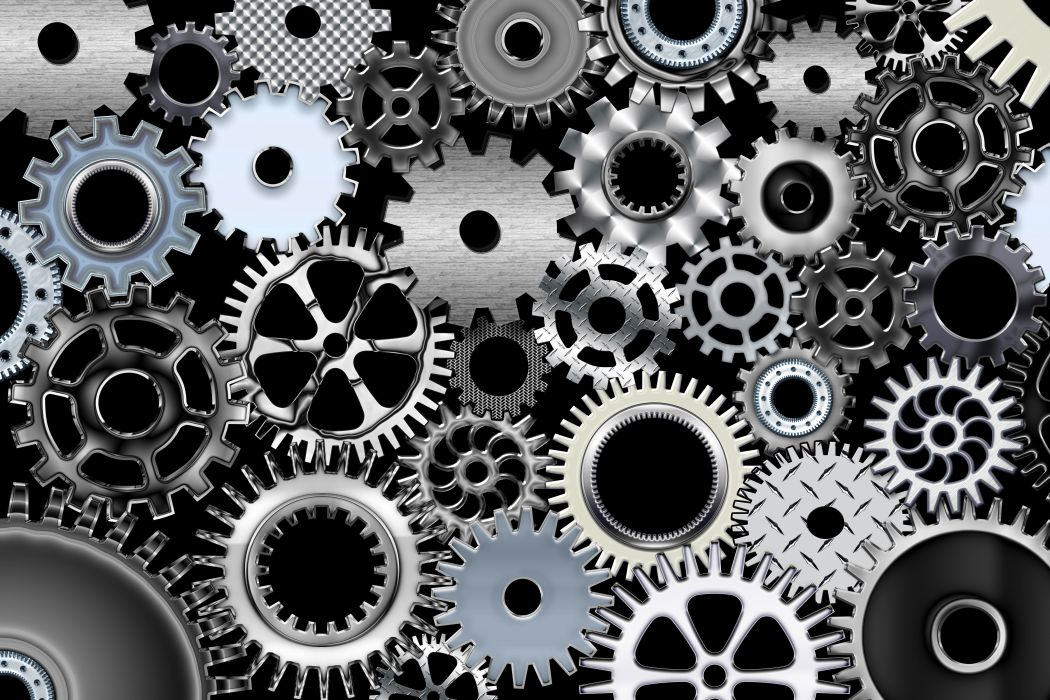 Gears mechanical technics metal steel abstract abstraction steampunk mechanism machine Engineering gear wallpaper