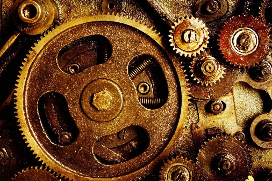 Gears mechanical technics metal steel abstract abstraction steampunk mechanism machine Engineering gear wallpaper