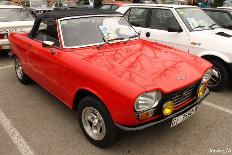 Peugeot 204 cars classic french cabriolet convertible wallpaper