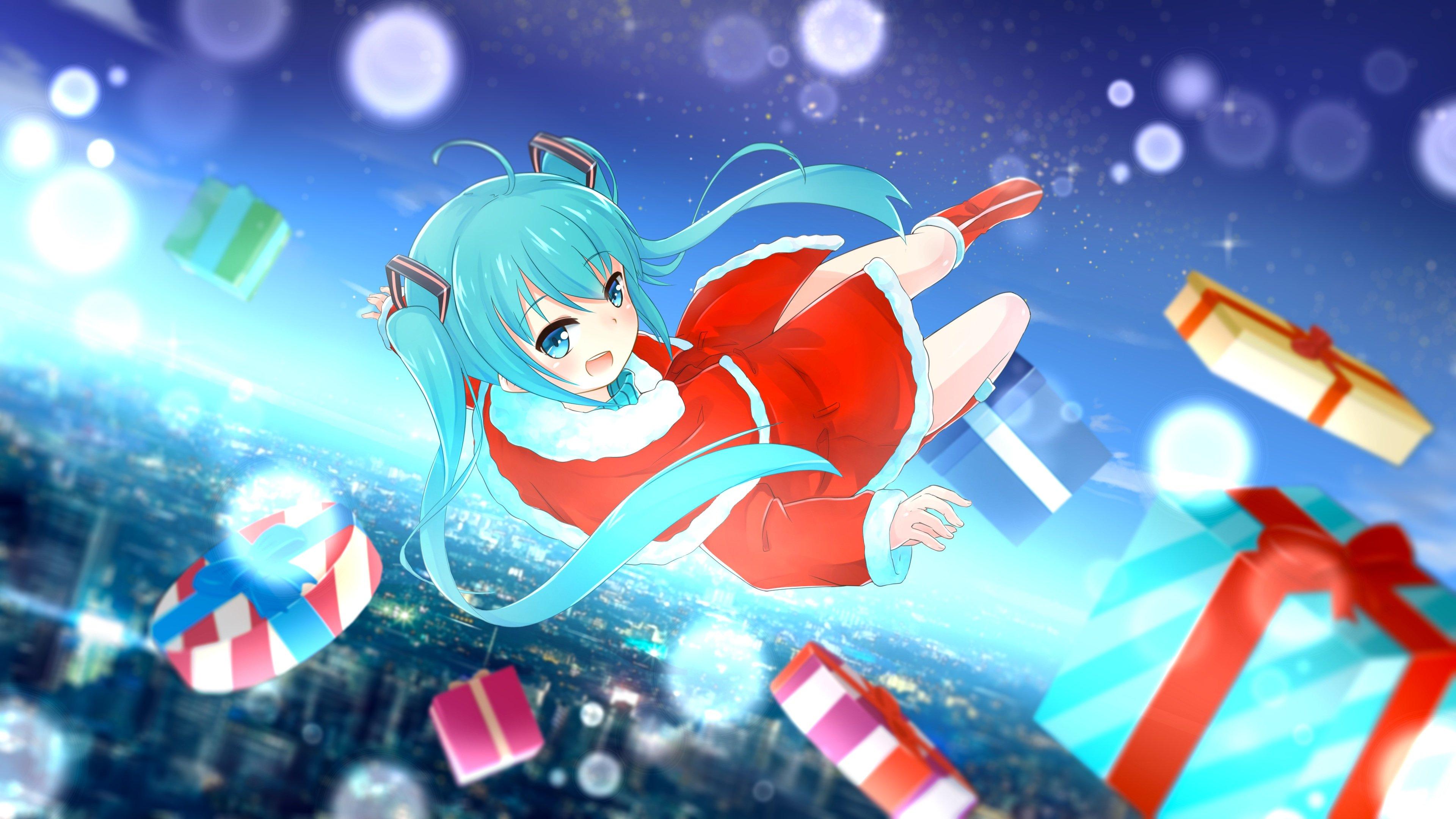 Fondos Navidad Animados: Christmas Hat Hatsune Miku Santa Costume Santa Hat
