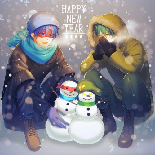 Happy Tree Friends Flippy Splendid (HTF) Snowman Gray Background wallpaper