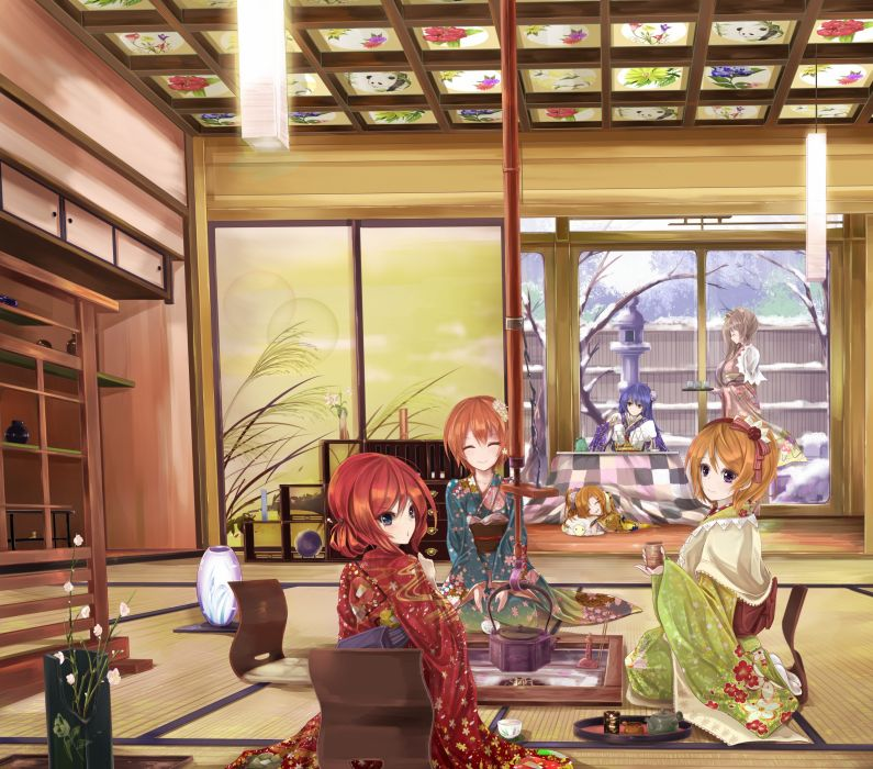 Love Live! Koizumi Hanayo Kousaka Honoka Hoshizora Rin Sonoda Umi wallpaper