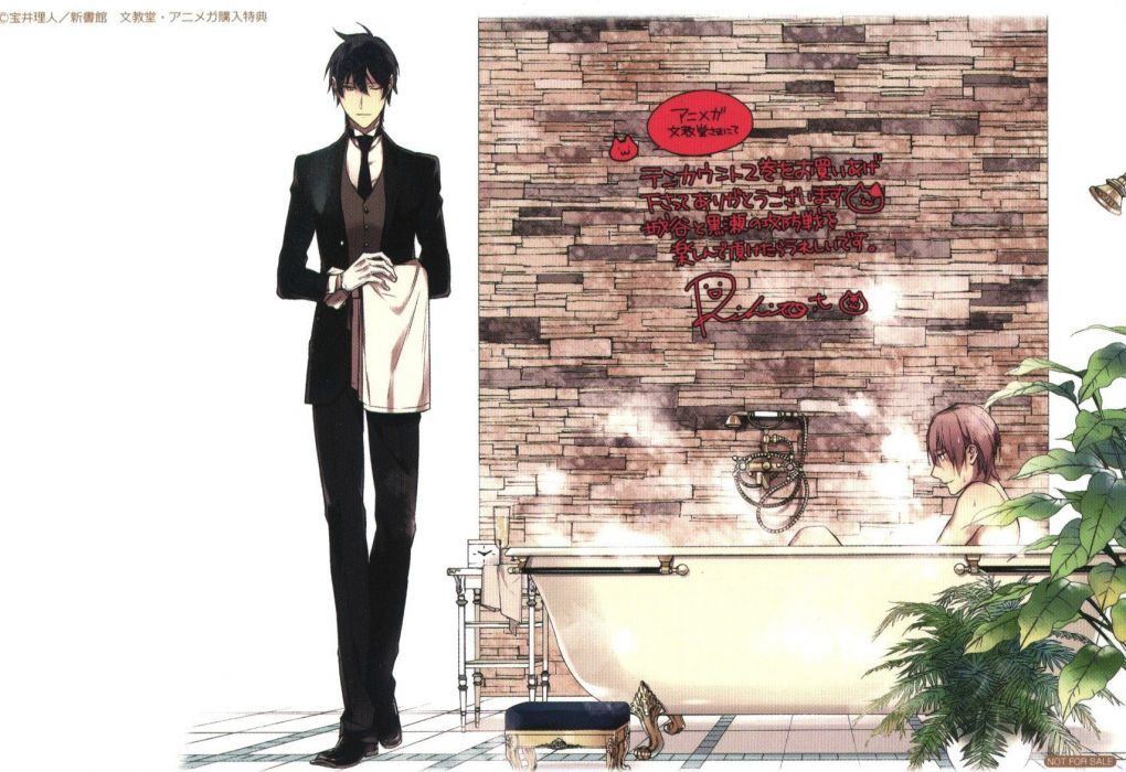 Ten Count Shirotani Tadaomi Riku Kurose Butler Washing wallpaper