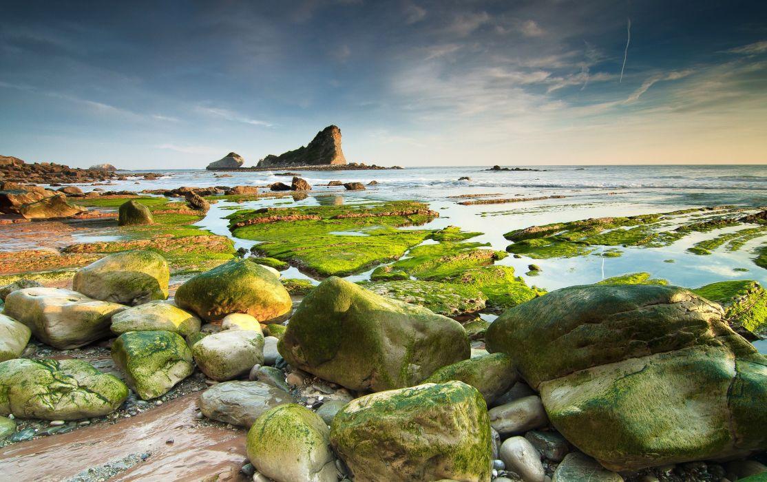 Coast Stones Water Nature beach sea ocean wallpaper