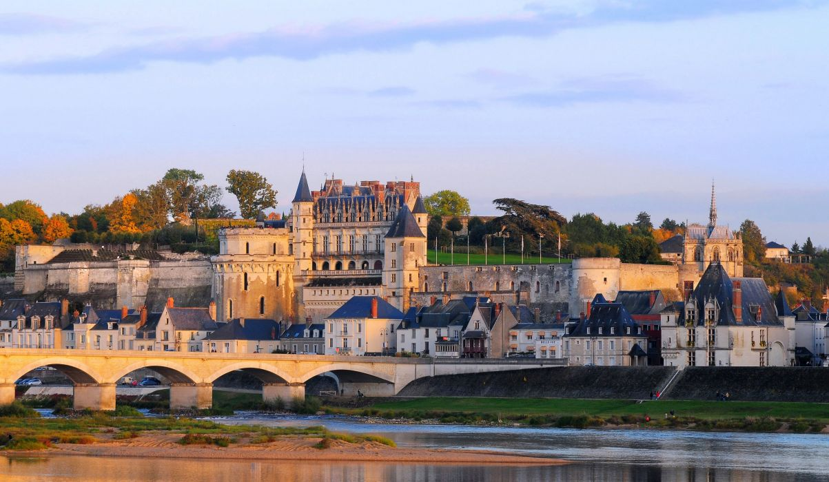France Castle Bridges Amboise Cities wallpaper