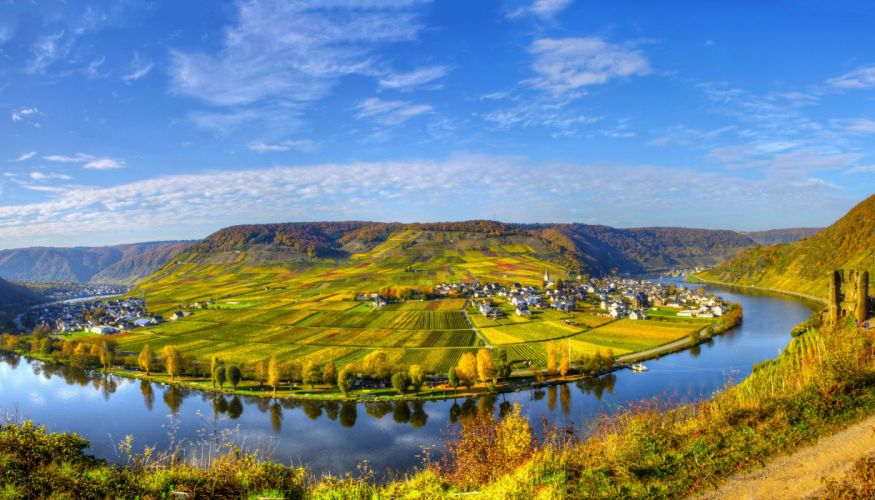 Scenery House River Field Sky Germany Beilstein Cities Nature city wallpaper
