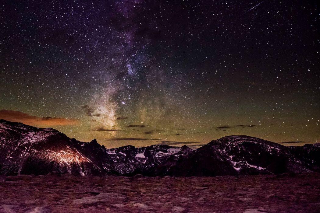 stars mountains National Park Rocky Mountain Colorado wallpaper