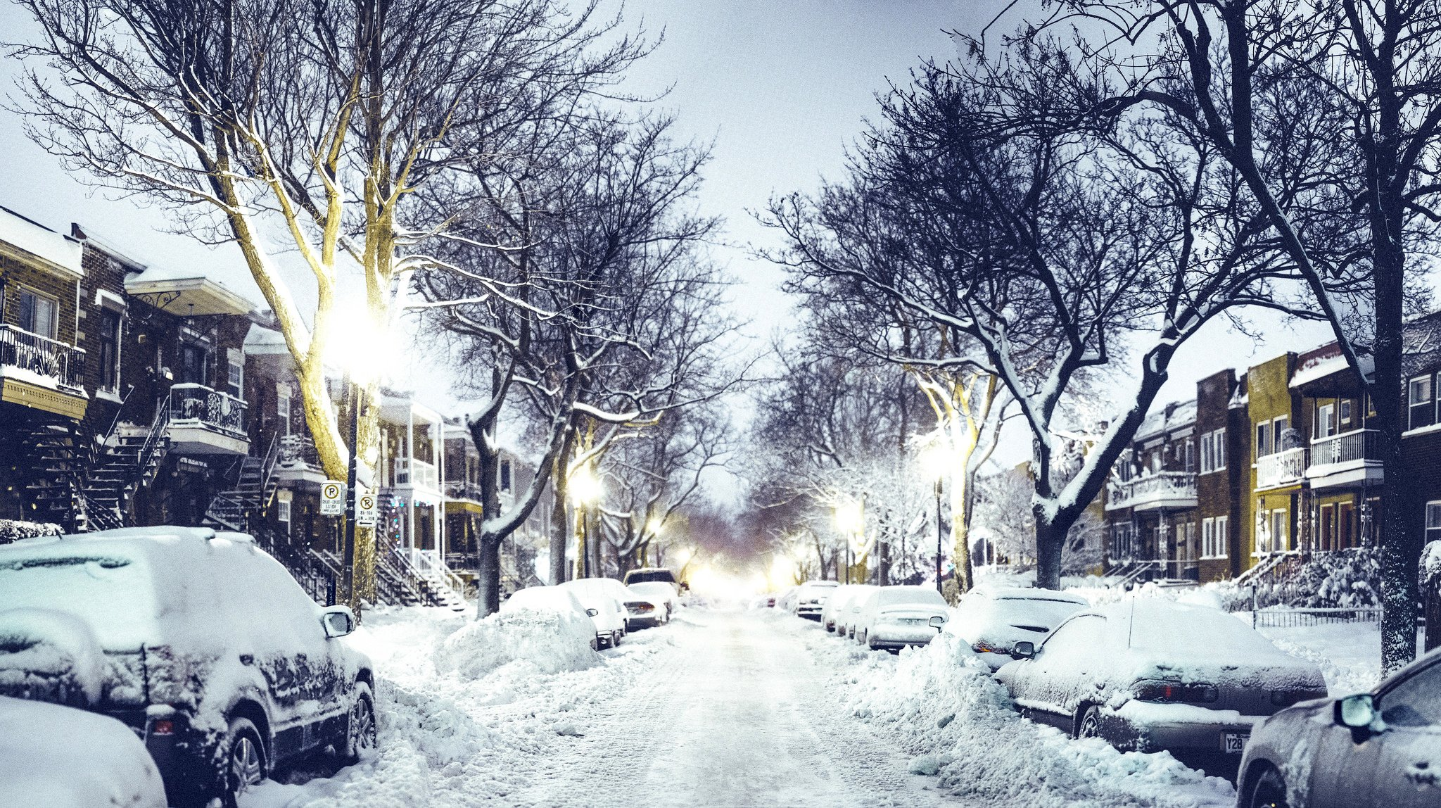 winter city street - photo #21