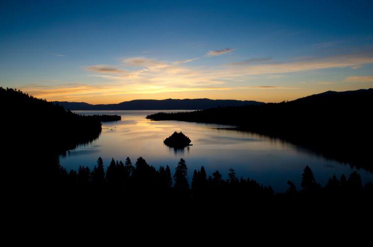 sunrise emerald bay lake tahoe california wallpaper