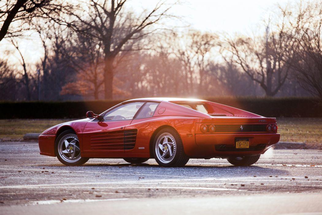 1995 Ferrari F512 M US-spec supercar wallpaper