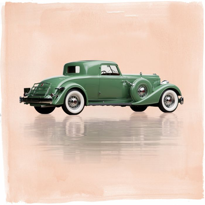 1934 Packard Twelve Stationary Coupe Dietrich 1108-4068 luxury retro wallpaper