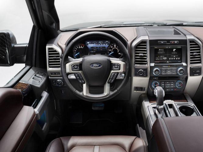 2015 Ford F-150 Platinum SuperCrew pickup f150 wallpaper
