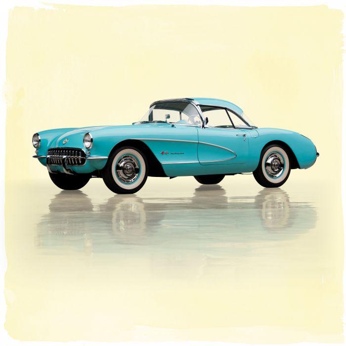 1957 Chevrolet Corvette Fuel Injection c-1 muscle retro supercar wallpaper